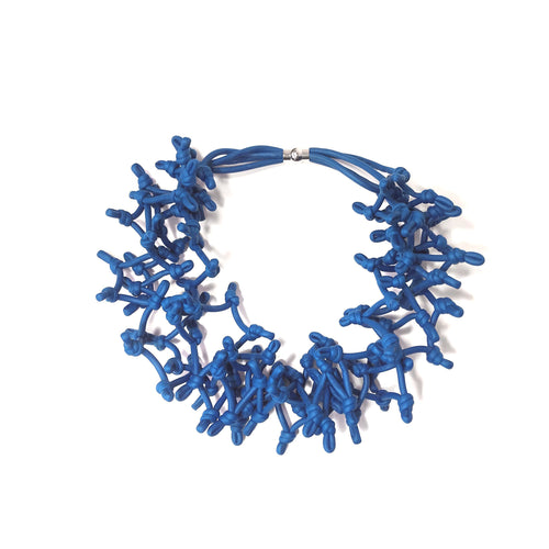 NEO 462 Blue Multi-knot Necklace