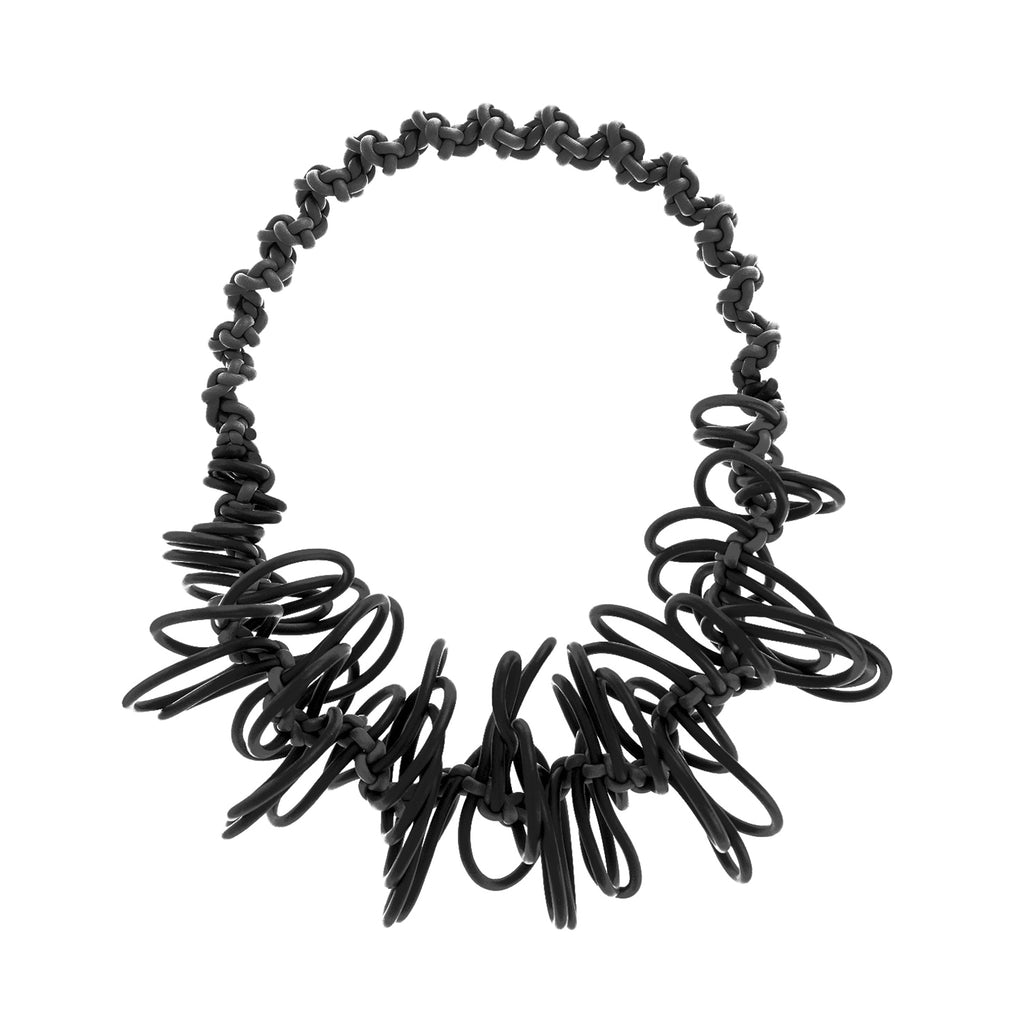 NEO 198 Black Loop Necklace