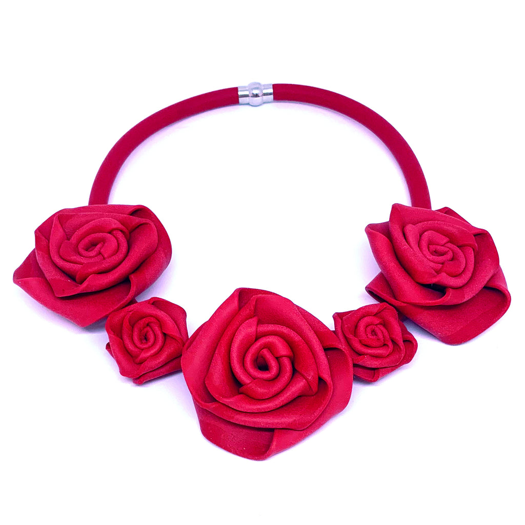 NEO, Neo 456 Red Rose Necklace - Tiffany Treloar