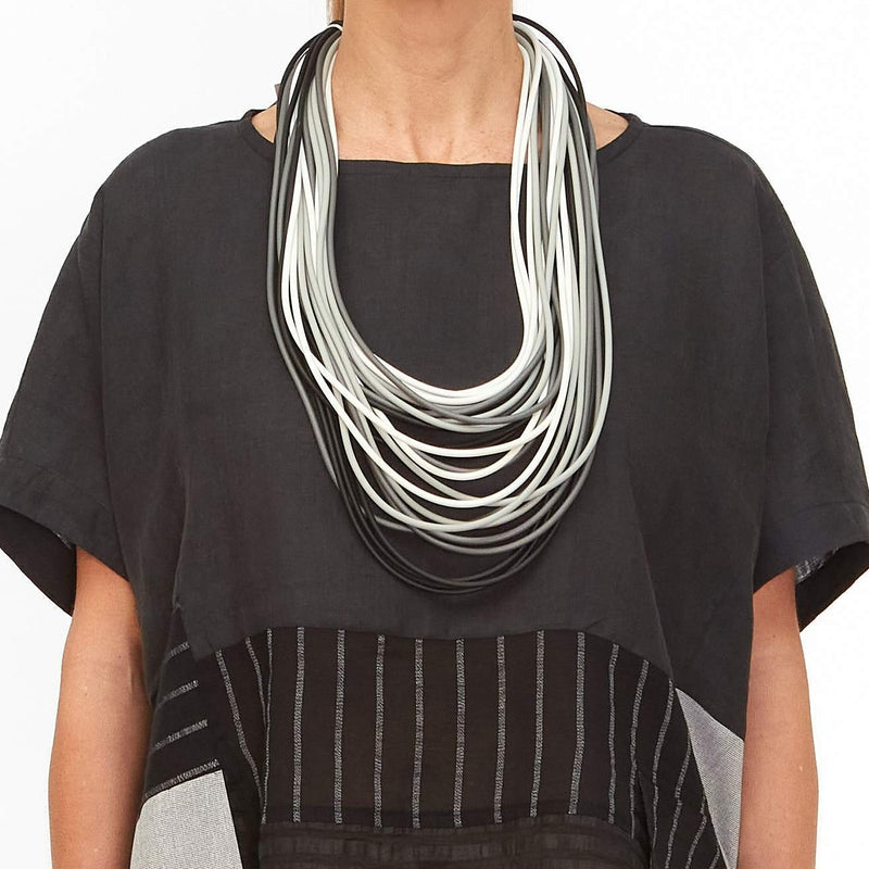 NEO, NEO 298 Double Mix/White Long Necklace - Tiffany Treloar