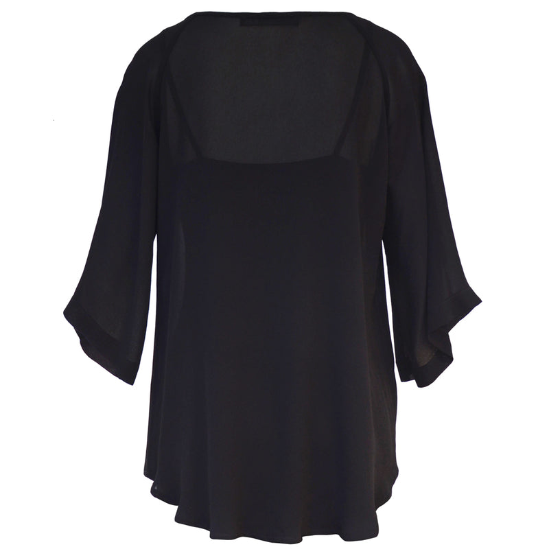 Tiffany Treloar Origami Neck Top Black Back