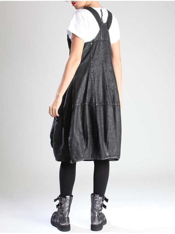 Lurdes Bergada Coated Texturised Cotton Overall Dress LB M19-210