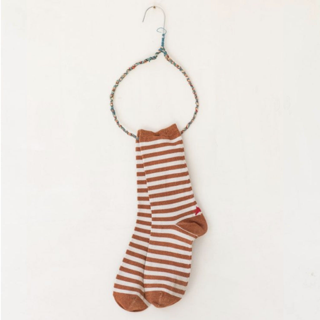 Hop Socks, Sox Red Brick/Beige - Tiffany Treloar