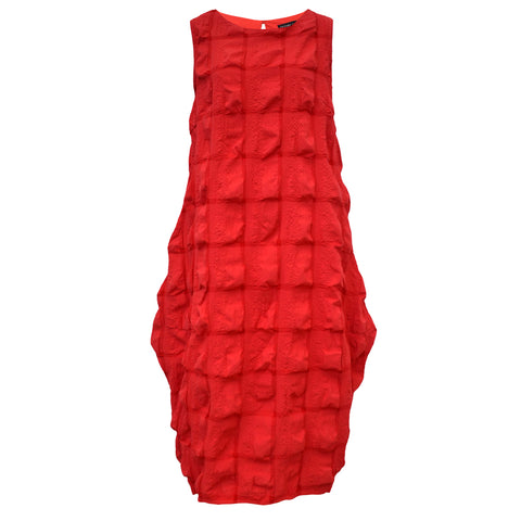 Tiffany Treloar Cotton Seersucker Dress Red Front
