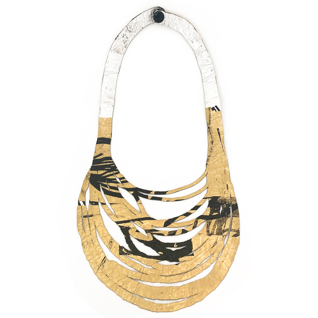 Sabato Isabel, SI02 Black/Silver/Gold Short Necklace - Tiffany Treloar