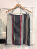 Japanese Cotton Stripe Skirt Black/Red