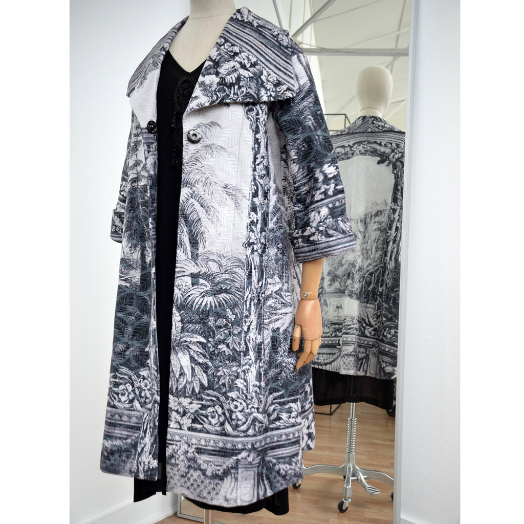 Print Cotton Jacquard Coat Amazonica