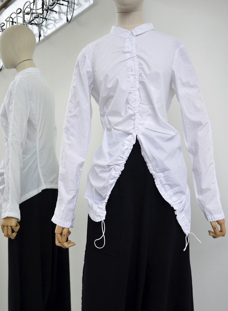 Rundholz White Gathered Shirt 3360413-999