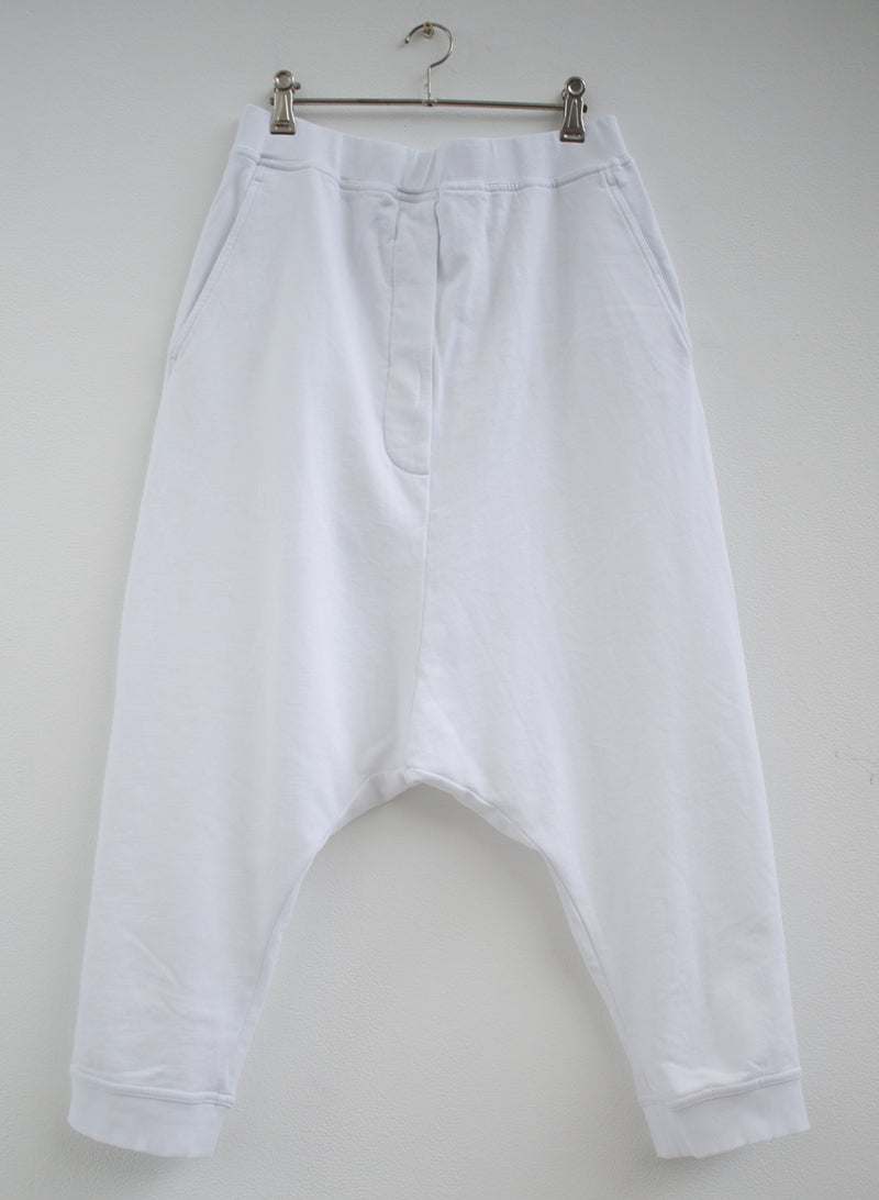Rundholz White Cotton Stretch 3/4 Pant 3290109-999 front