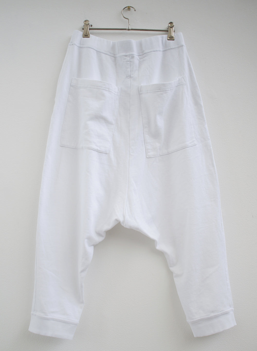 Rundholz White Cotton Stretch 3/4 Pant 3290109-999 back
