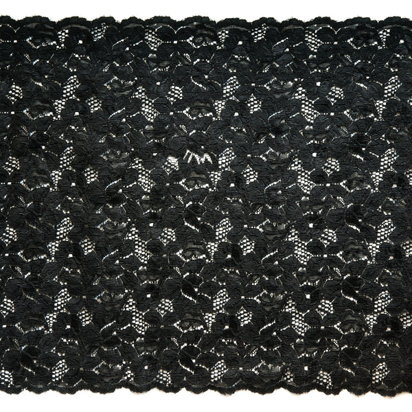 "11 1/2"" Wide Stretch Lace (black)"