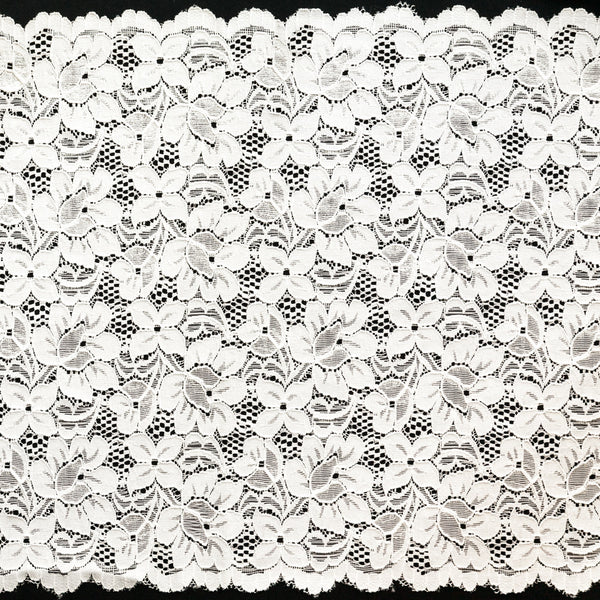 "11 1/2"" Wide Stretch Lace (white)"