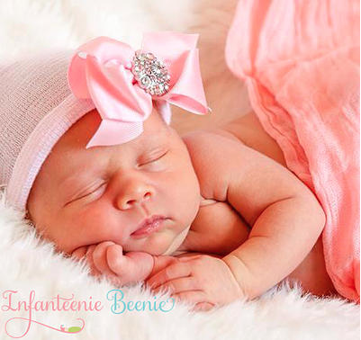 Infanteenie Beenie- Her First Bling Bow
