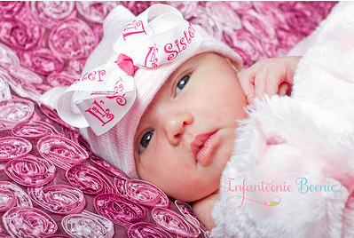 Infanteenie Beenie- Little Sister First Bow