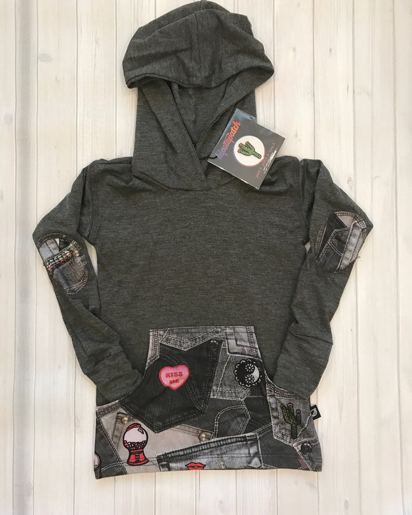 Patch Pocket Hooded Top