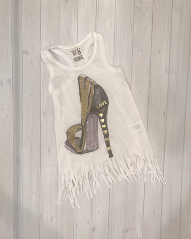 Infant Love Heel Fringe Dress