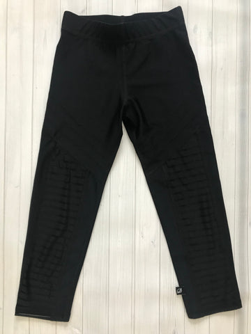 Terez Black Striped Crop Legging