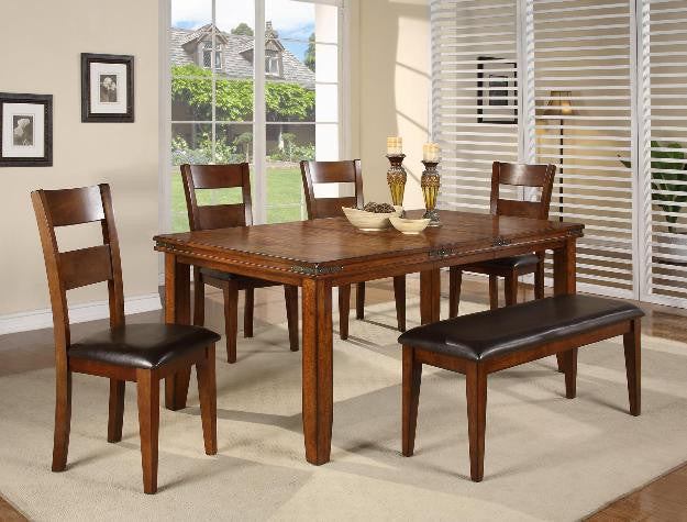 6 Piece Dining Set w/ Metal Accents