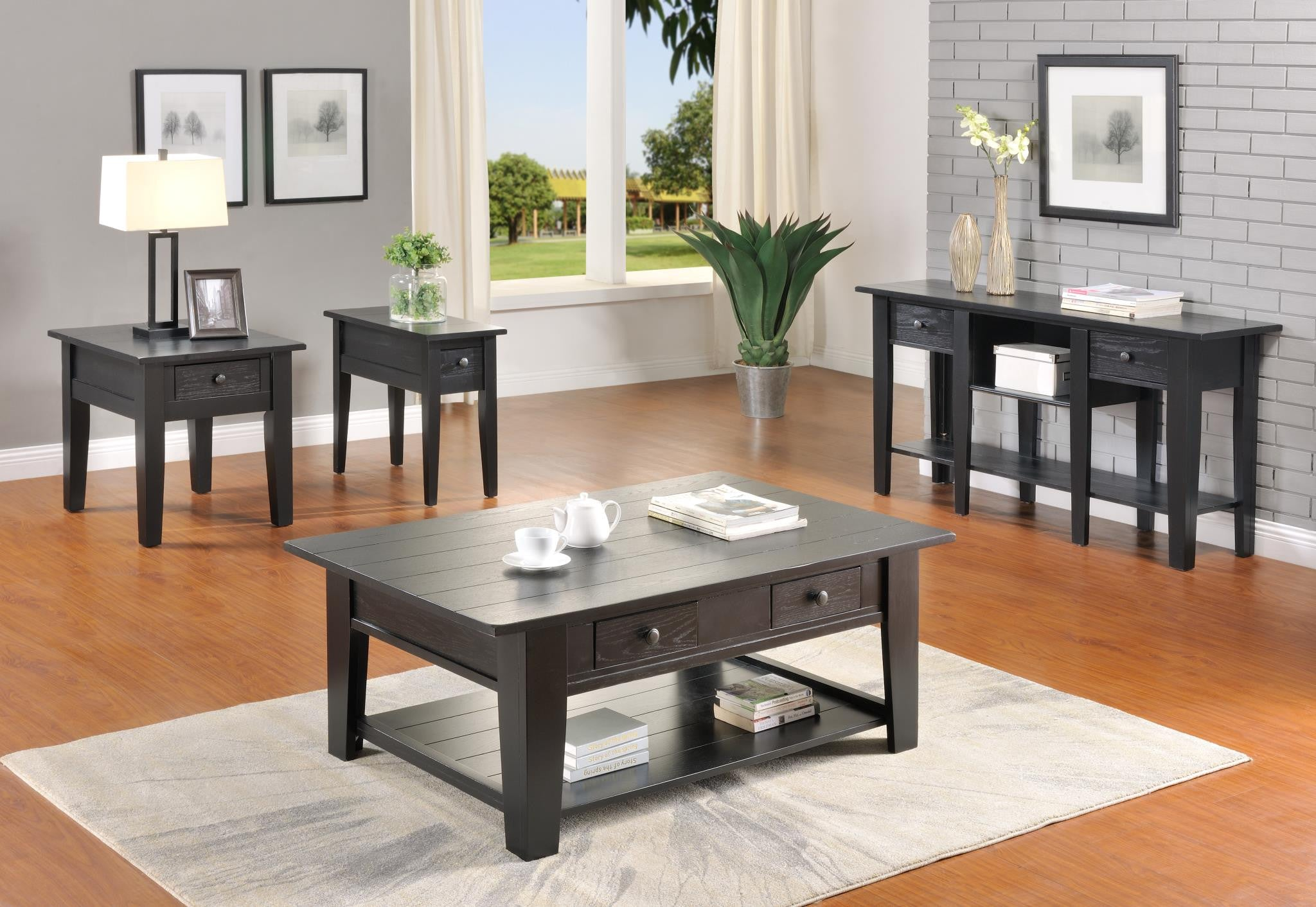 Ezra Occasional 3 Piece Coffee Table Set