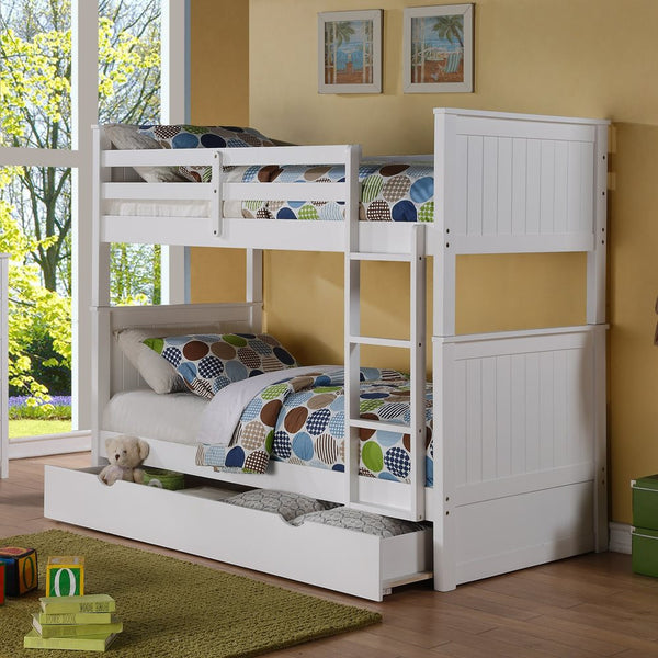 Twin Twin Bunk Bed With Storage Mindys Home Goods