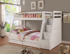 Twin Over Full Staircase Bunk Bed