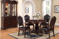 5 Piece Formal Dining Set - Round