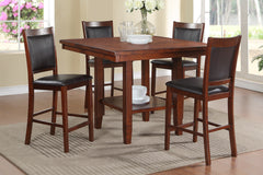 Wooden 5 Piece Counter Height Dining Set