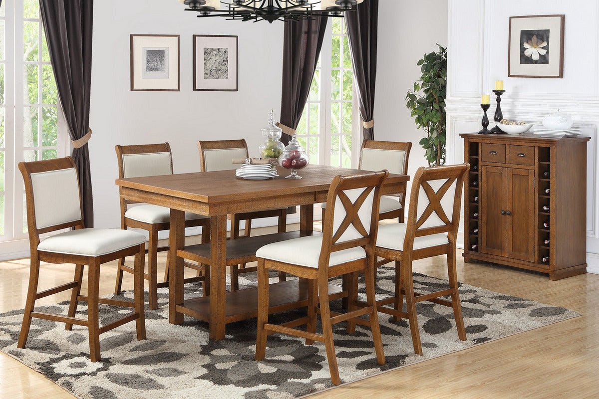 Classic Styled 7 Piece Formal Dining Set