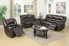 Elegant Nail-head Reclining Living Room Set