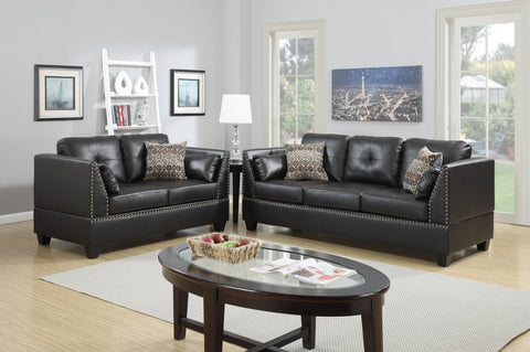2 Piece Living Room Set w/ Accent Pillows