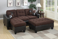 3 Pc Sectional w/ Ottoman (Make-A-Bed)