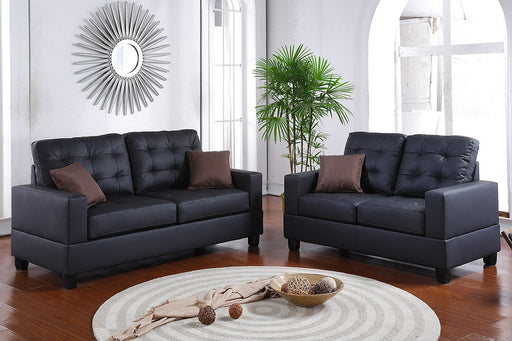 2 Pc Living Room Set w/ Accent Pillows