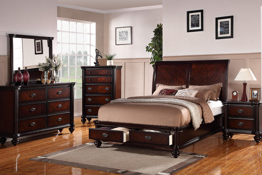 5 Piece Cherry Platform Bedroom Set