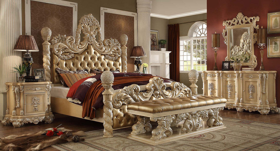Homey Design Traditional King Bedroom Set