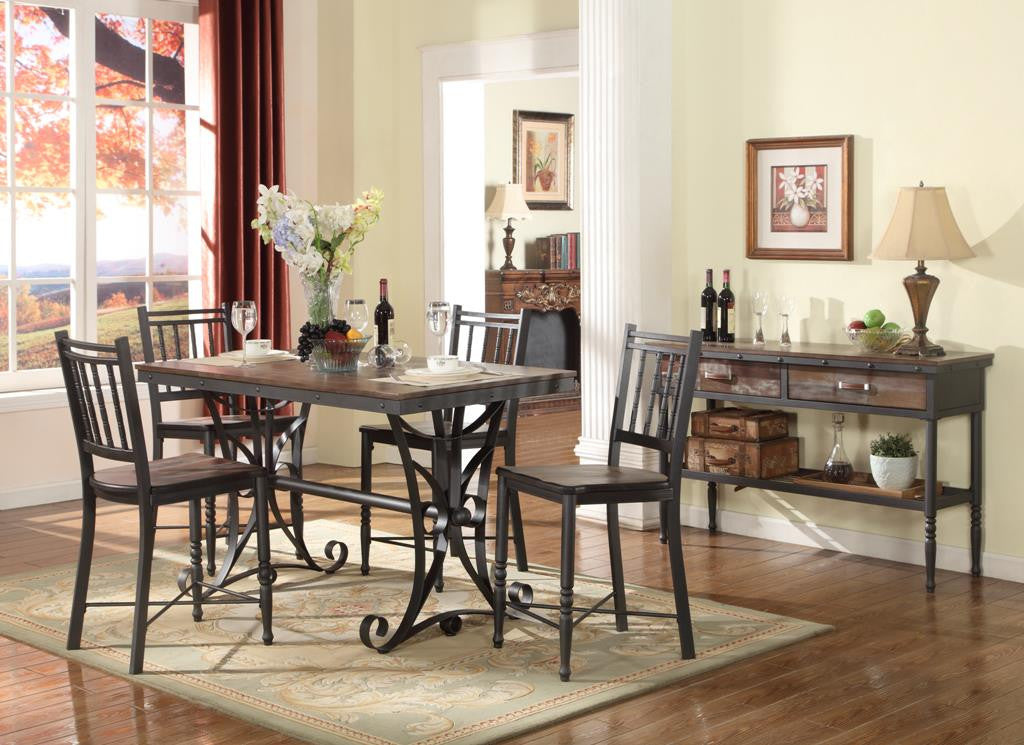 Annabelle Counter Height Industrial Dining Set