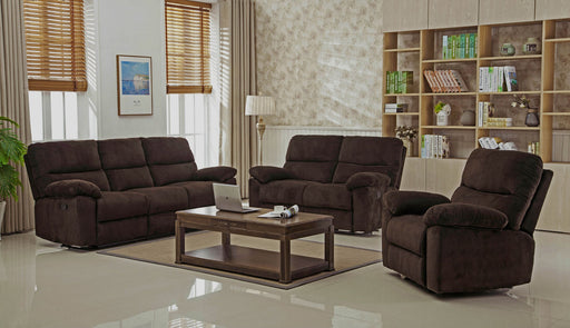 3 Piece Andrew Reclining Set - Chocolate