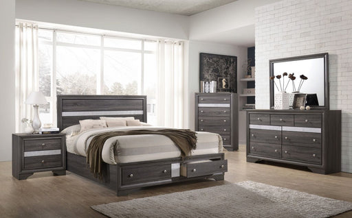 5 PC. REGATA PLATFORM GREY BED SET