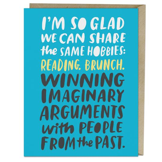 Imaginary Arguments Card - All She Wrote