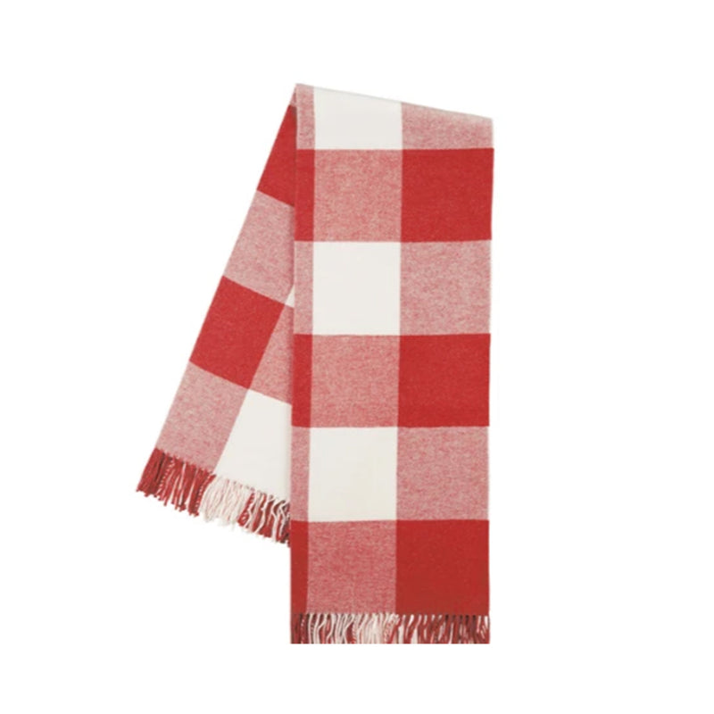 Red Italian Buffalo Check Throw - All She Wrote