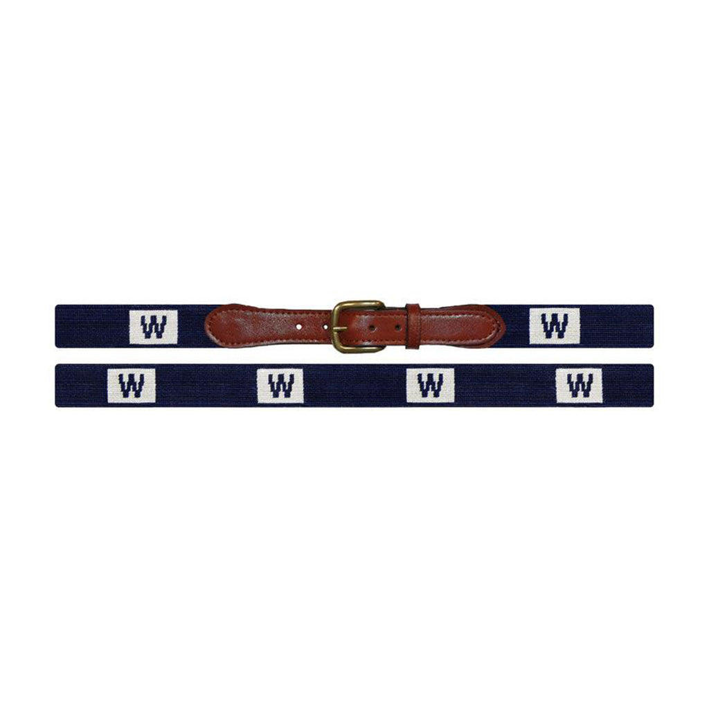 Cubs 'W' Flag Needlepoint Belt - All She Wrote