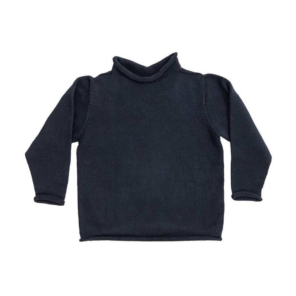 Navy Cotton Rollneck Sweater - All She Wrote