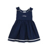 Navy & White Trim Pique Dress - All She Wrote