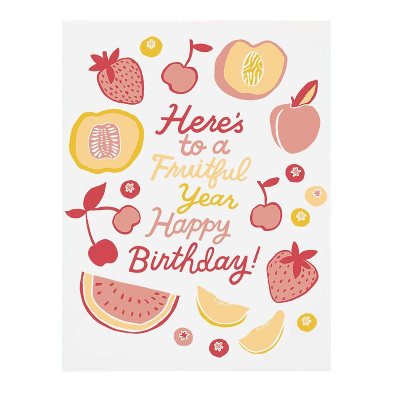 Fruitful Year Birthday Card - All She Wrote