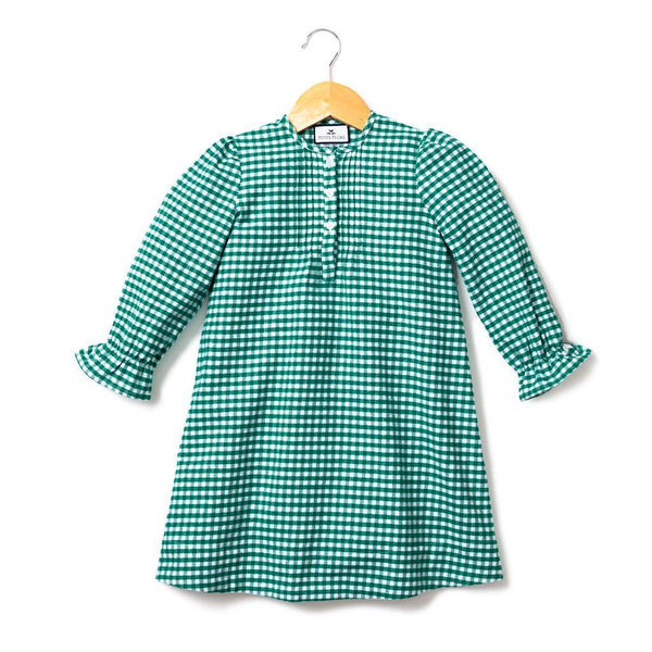 Petite Plume Green Gingham Nightgown