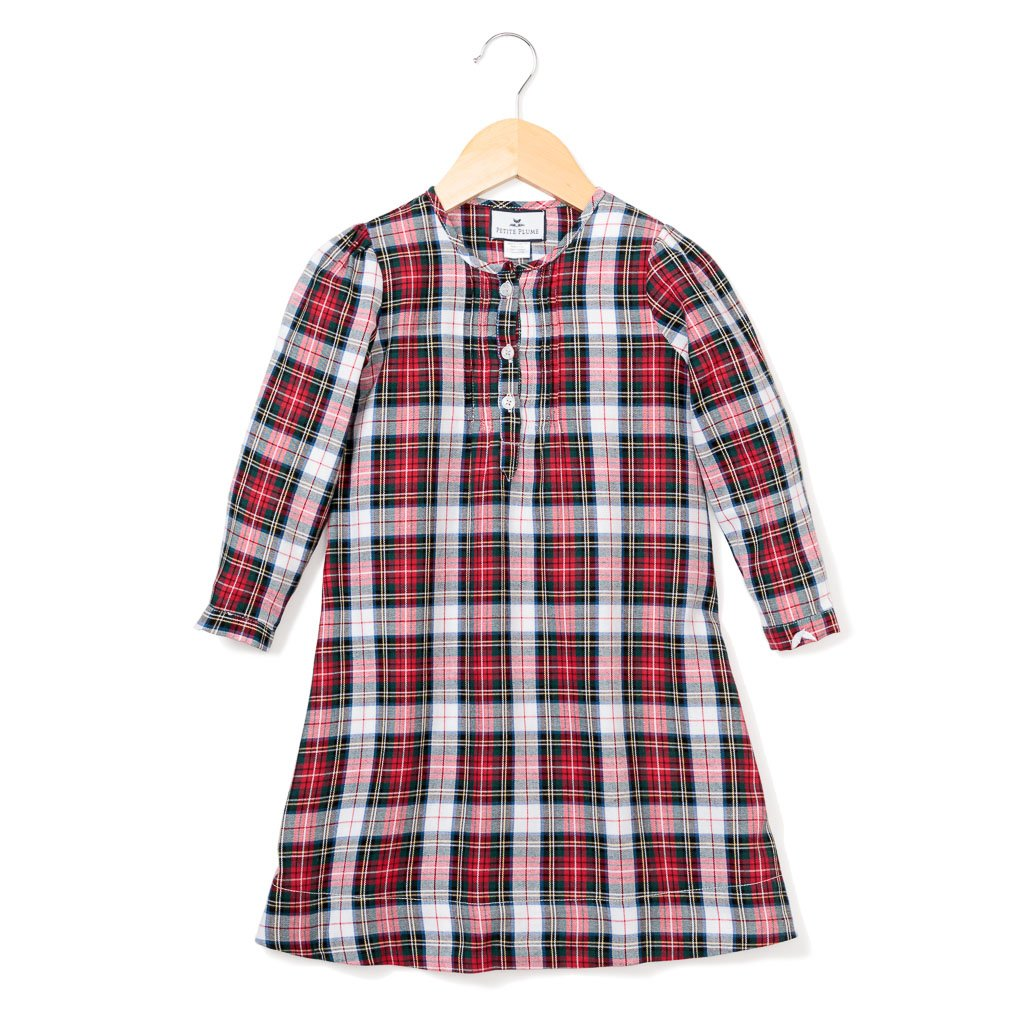 Festive Tartan Nightgown - All She Wrote