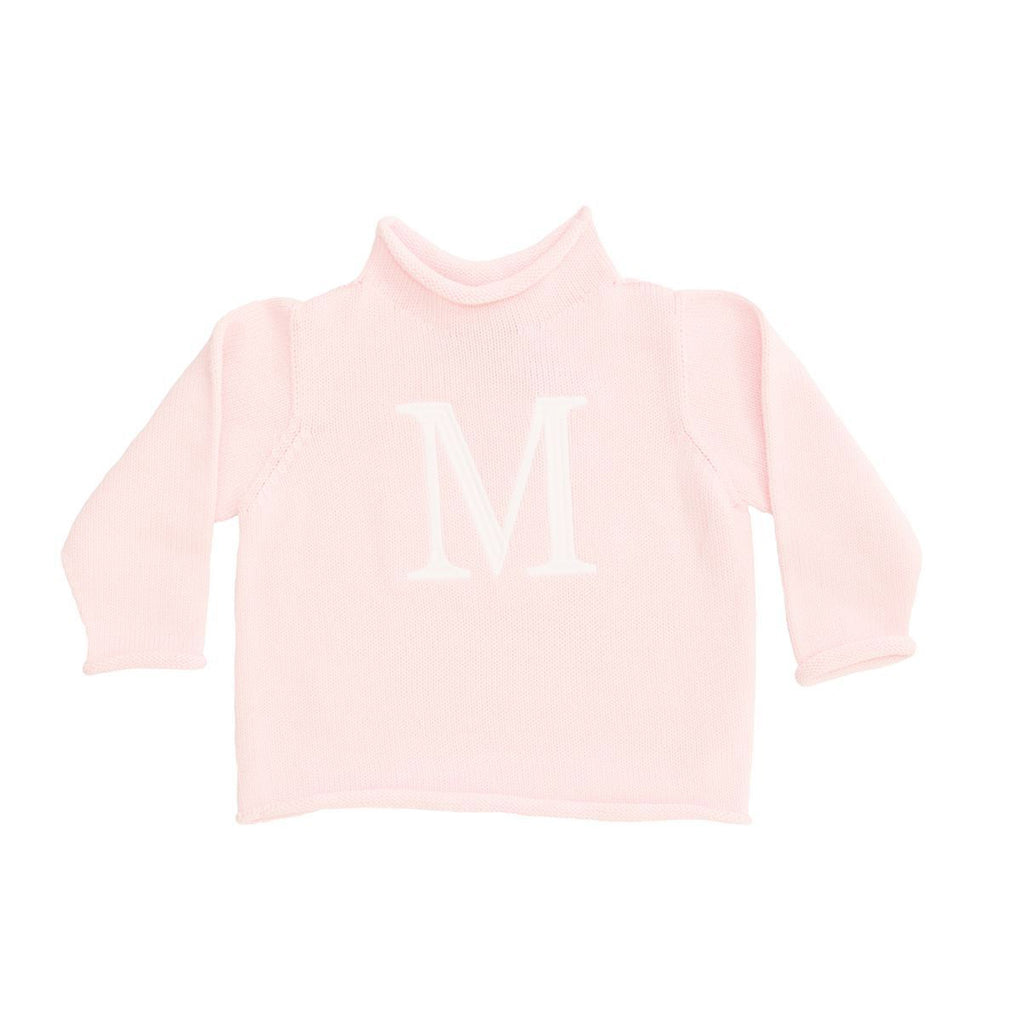 Light Pink Cotton Rollneck Sweater - All She Wrote