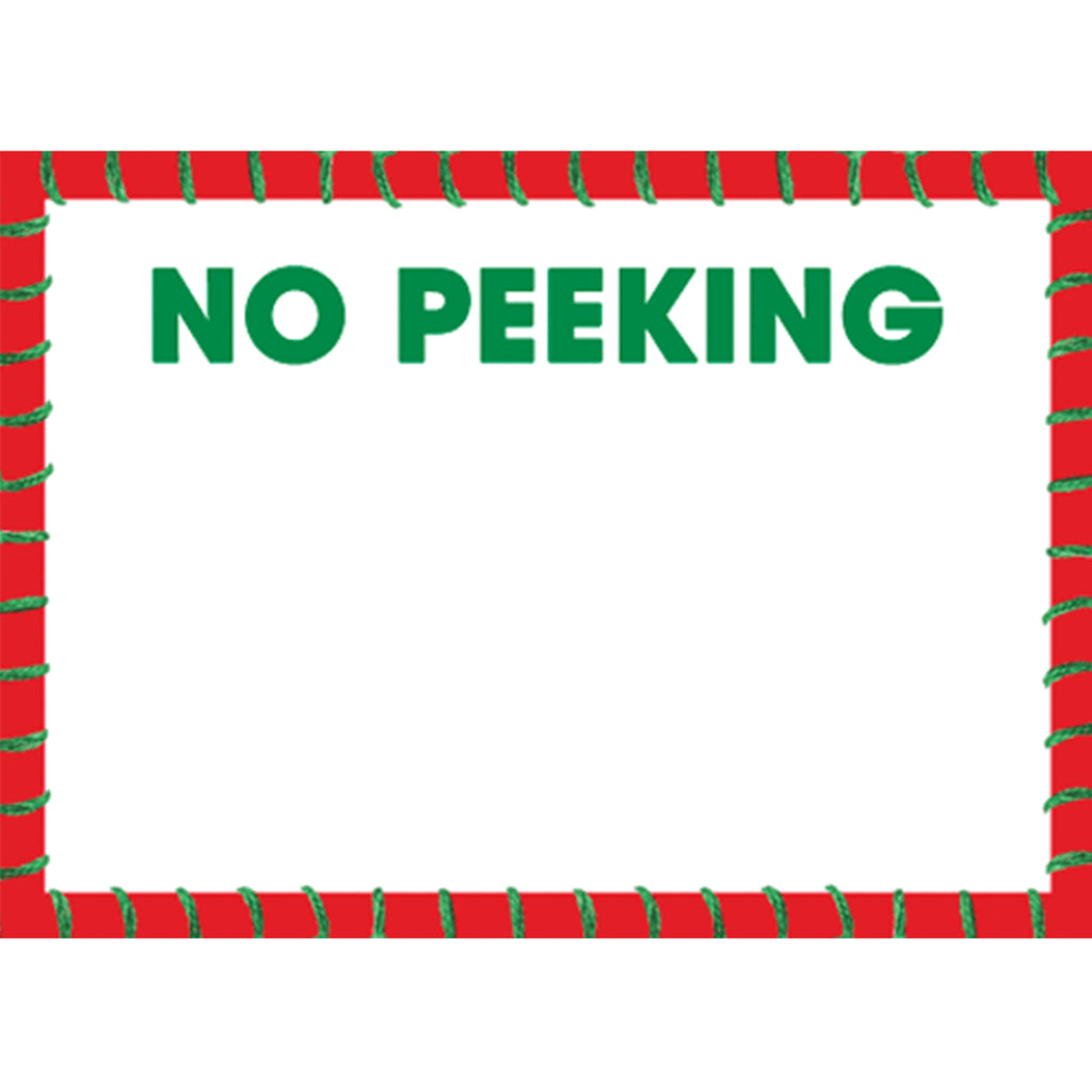 No Peeking Labels - All She Wrote