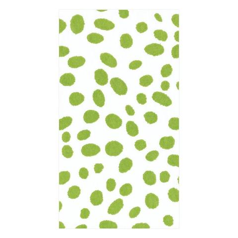 Green Spots Guest Towel - All She Wrote