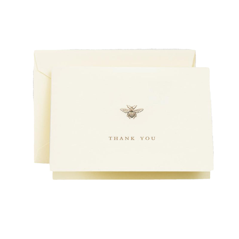Gold Bee Thank You Boxed Stationery - All She Wrote