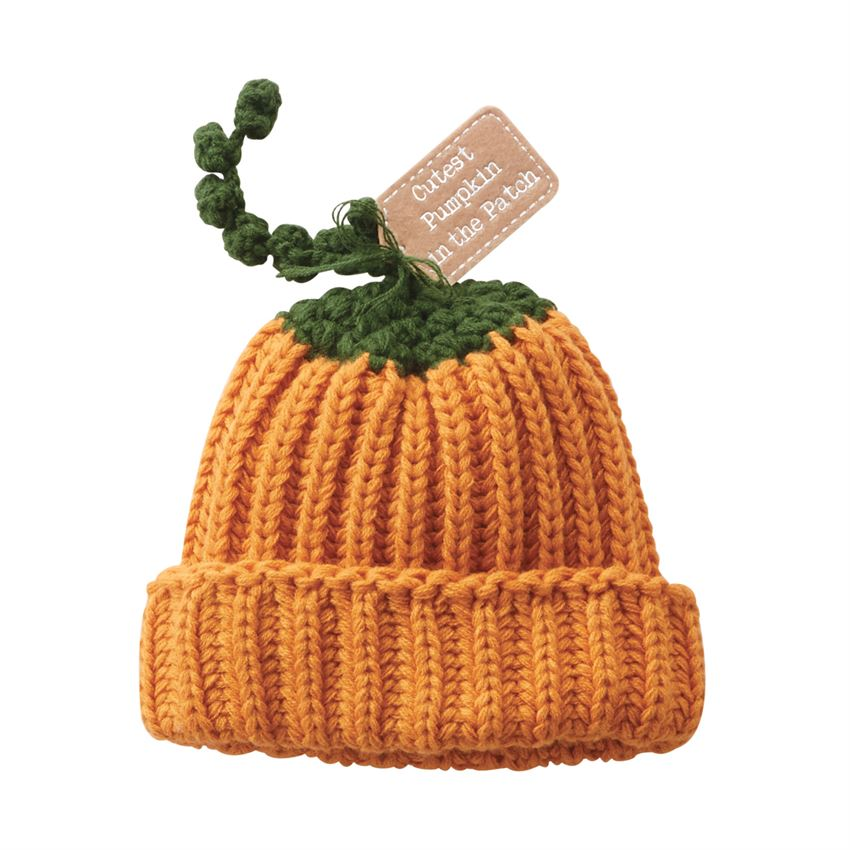 Knit Pumpkin Hat - All She Wrote